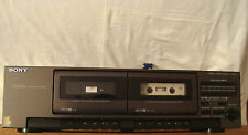 SONY DOLBY BNR HIGH SPEED DUBBING STEREO CASSETTE DECK TCW421 TESTED WORKS GREAT