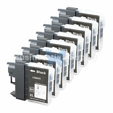 8 BLACK LC65 NEW HIGH YIELD Compatible Ink LC65BK LC65 LC-65 for Brother Printer