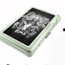 Cigarette Case with Built In Lighter Skull Design-007