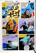 1981 Colan Captain America Annual 5 Marvel Comics color guide art page 8: 1980's