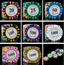 11PSC / Set Poker Chips 14g Iron+Clay+ABS Casino Chips Texas Hold'em Poker