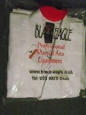 Black Eagle White Judo Weave Suit Size 4 (170lbs)