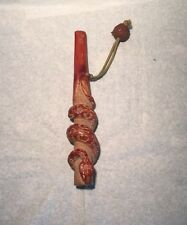 Vintage Japanese Wood Kiseru Tobacco Pipe Kouyasan Nut Carved Snake