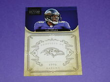 2011 National Treasures LEE EVANS #12 SP/99 Baltimore RAVENS - Wisconsin BADGERS