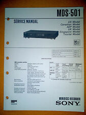 Sony MDS-501 Service Manual (original) Used
