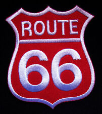 #02 ROUTE 66 AMERICA'S HIGHWAY Embroidered Iron on Patch Free Postage