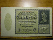 1922 Germany 10000 Mark German Paper Money Banknote XF+++ VERY RARE!