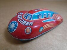 1950's Space Explorer Tin Rocket Car Made In Japan