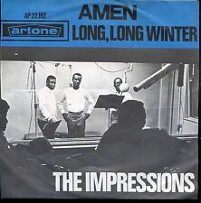 7inch THE IMPRESSIONS amen / long long winter HOLLAND RARE NORTHERN SOUL +PS EX