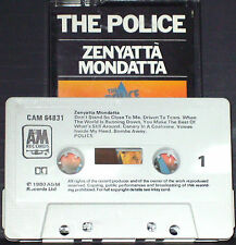 Police Zenyatta Mondatta CASSETTE ALBUM A&M Records CAM 64831 Rock New Wave 1980