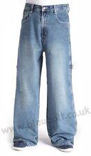 """Bleubolt BN Tinted Carpenter Skater Jeans 24"""" hem Big Size Baggy Loose fit"""
