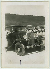 PHOTO ANCIENNE - VOITURE FEMME TRACTION GAG - CAR WOMAN FUNNY - Vintage Snapshot