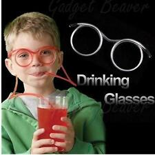 CRAZY FUNKY DRINKING STRAW GLASSES NOVELTY TUBE JOKE FUN CHILDREN PARTY