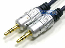 0.5m GOLD Car AUX 3.5mm Jack to iPod MP3 Cable OFC short 50cm Audio Music Lead