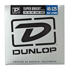 Dunlop Super Bright Nickel Wound Bass Strings, Medium-5, 45-125
