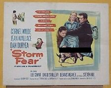 STORM FEAR, 1956, Cornel Wilde, Dan Duryea Film Noir, U. S. Half Sheet UNFOLDED