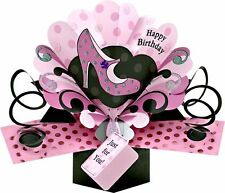 HAPPY BIRTHDAY PINK SHOE 3D POP UP BIRTHDAY CARD NEW GIFT