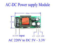AC-DC 220V to 5V 3.3V 500mA 200mA Isolated Step Down Buck Power Supply Module