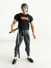 NOX-SUP-BLK: FIGLot 1/12 scale Supreme T-Shirt for 6 inch action figures - Black
