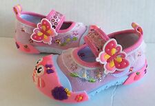 Baby Toddler Girl Pink Sneakers Shoes Size 6 Princes Slip-On Style with Strap