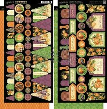 "GRAPHIC 45 ""AN EERIE TALE"" BANNERS  HALLOWEEN  RETIRED SCRAPJACK'S PLACE"