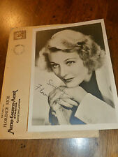 Vintage Florence Rice Signed/Autographed Photo - Black/White - Original Mailer