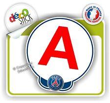 Disque A PSG Sticker Autocollant Jeune Conducteur Cadeau Permis Foot Paris