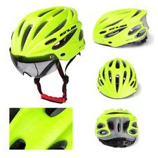 Adult Cycling Bicycle Road Bike Safety Helmet Protect Head Gear Goggles w/ Visor