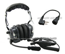 4-081 + 44-M RACING HEADSET HEADPHONE FOR MOTOROLA 2 WAY RADIOS 2 PINS CABLE