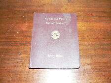 Vintage Norfolk and Western Railway Company Safety Rules Booklet~5th Print, 1969