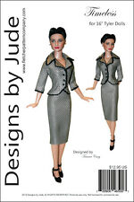 "Timeless Suit Doll Clothes Sewing Pattern for 16"" Tyler Wentworth Dolls Tonner"