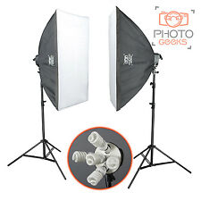 2750w Continuous Softbox Lighting Studio Kit - Photography Photo Video Portrait
