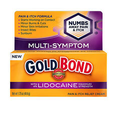 Gold Bond Pain & Itch Cream with Lidocaine 1.75 oz