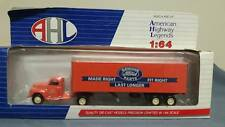 "AHL/Hartoy Ford F7 tractor with parts trailer. ""Ford Genuine Parts"". 1/64th"