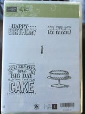 """""""Sale-A-Bration BIG DAY"""" Stampin'UP! NEW~Ruber/CLING unmounted- birthday cake"""