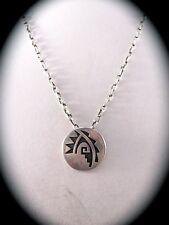Hopi Traditional Design Sterling Silver Pendant  by J. Honyaktewa