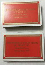 Vtg Playing Cards Brownfield State Bank & Trust Co Brownfield Texas Made In USA