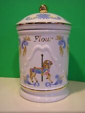 LENOX FLOUR CANISTER from The CAROUSEL HORSE set NEW in BOX