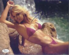 HEATHER THOMAS SIGNED 'THE FALL GUY' 8X10 PHOTO AUTOGRAPH JSA COA