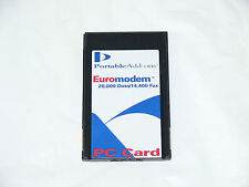 PORTABLE ADD-ONS MODEM 16-BIT 56K TDK DF2814 NOTEBOOK LAPTOP PCMCIA CARD