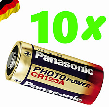 10 x Panasonic Ultra CR123 3V Lithium Photo Battery DL123A EL123A 5 CR17345 123A