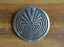 Vintage Hopi Sterling Silver Man In The Maze Pin/Pendant