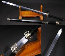 "41.33"" Hand Forge Chinese Sword ""Han Jian""(劍) Alloy Fitting Carbon Steel #0552"