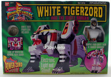 Mighty Morphin Power Rangers White Tigerzord & White Ranger Figure SHELF WEAR