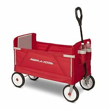 Radio Flyer 3-in-1 EZ Fold Wagon Ride On, Red