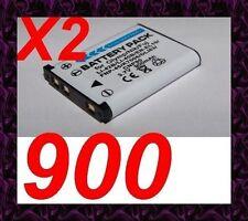 """★★★ """"900mA"""" 2X BATTERIE Lithium ion ★ Pour Praktica Luxmedia 14-Z50S / 14-Z51"""