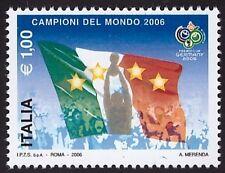 ITALIA REPUBBLICA 2006 - 1,00 € MONDIALI CALCIO VARIETA' n.2924 Cert. FERRARIO