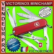 COUTEAU SUISSE VICTORINOX MINICHAMP 16 OUTILS ROUGE NEUF PRO/FRANCAIS 0.6385