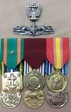 USN Dress Medals, Enlisted Surface Warfare Badge, PO hat crest.