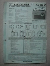 Philips LD380AB Georgette Kofferradio Service  Manual Ausgabe 03/58 blaue Pappe